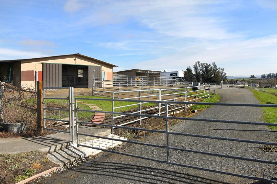 fenced horse property