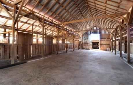 1814 Wood Road Fulton Horse Property Barn Interior